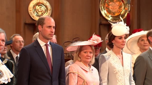 queen's 90th birthday celebrations: duke and duchess of cambridge attend guildhall reception; england: london: guildhall: int royals including prince... - 90th birthday stock videos & royalty-free footage
