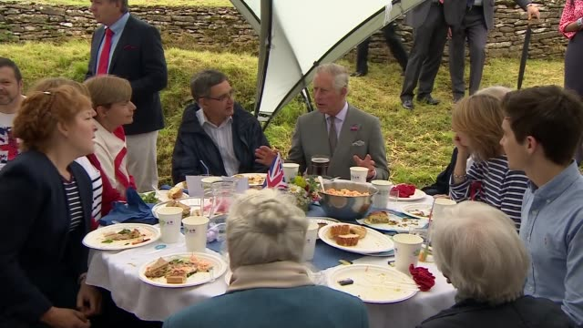 Queen's 90th birthday Prince Charles and Camilla attend Patron's Lunch Various of Prince Charles the Prince of Wales and Camilla Duchess of Cornwall...