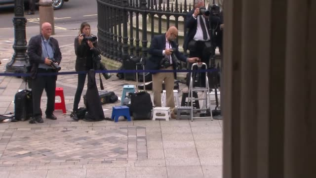 queen's 90th birthday service of national thanksgiving arrivals at st paul's cathedral philip hammond mp / david cameron mp and wife samantha cameron... - 90th birthday stock videos and b-roll footage