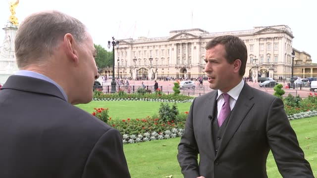 queen's 90th birthday: service of national thanksgiving held; england: london: ext peter phillips interview sot - re street party in the mall on 12th... - 90th birthday stock videos & royalty-free footage
