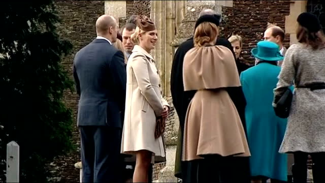Queens attends traditional Christmas church service at Sandingham ENGLAND Sandringham EXT Man getting out of car outside church Mike Tindall and Zara...
