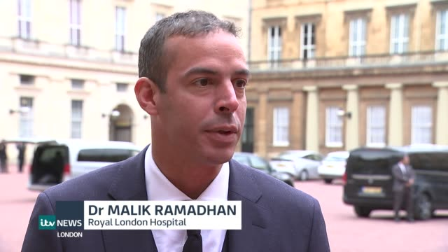 queen's birthday honours list dr malik ramadhan awarded obe for his work during london bridge terror attack england london ext dr malik ramadhan... - order of the british empire stock videos and b-roll footage