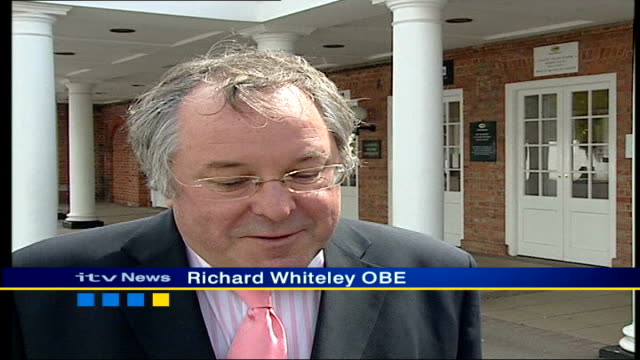 queen's birthday honours list itn richard whiteley obe interview sot delighted to get obe two vowels and consonant so can't grumble about that - リチャード ホワイトリー点の映像素材/bロール