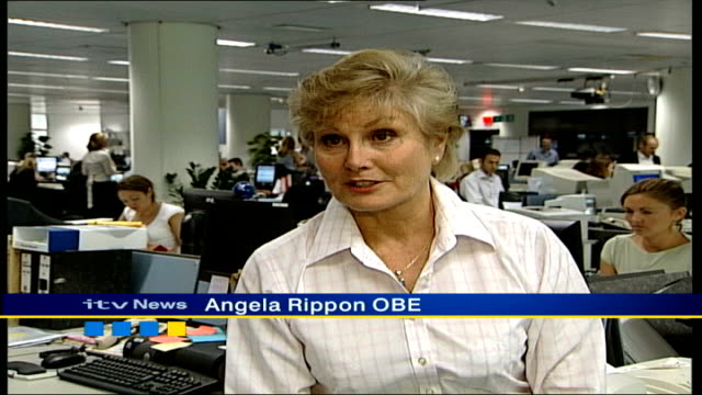 Queen's birthday honours list ITN London INT Angela Rippon OBE interview SOT I've been lucky / been doing job for 37 years that I love / that's...