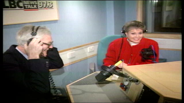 Queen's birthday honours list LIB Angela Rippon interviewing Douglas Hurd on LBC