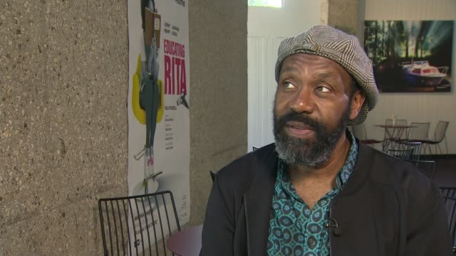 queen's birthday honours list: many stars of showbusiness honoured; england: int lenny henry interview sot - mum would have been very, very proud - lenny henry stock videos & royalty-free footage