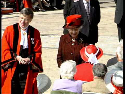 queen's birthday list; peter wilkinson pool file / date unknown england: peter wilkinson filming queen elizabeth ii at event - british royalty stock videos & royalty-free footage