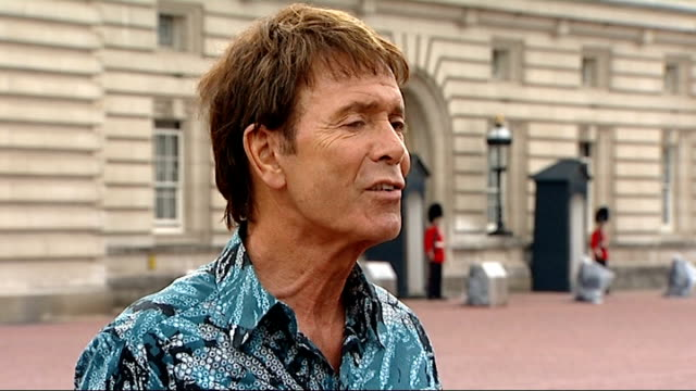 queen's diamond jubilee: beacons lit around the world; sir cliff richard interview sot - cliff richard stock videos & royalty-free footage