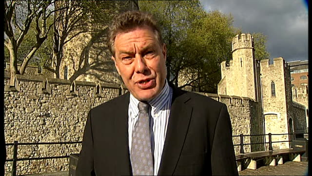 queen's diamond jubilee crystal diamond for beacon lighting arrives at tower of london england london tower of london reporter to camera bruno peek... - cushion stock videos and b-roll footage