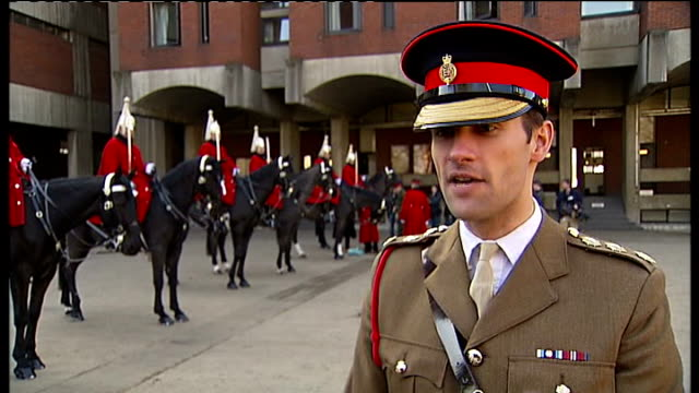 queen's diamond jubilee dress rehearsal for household cavalry mounted regiment richard chambers interview sot thomas davie interview sot wide shot... - cavalry stock videos & royalty-free footage