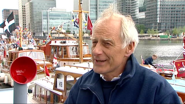 queen's diamond jubilee: little ships of dunkirk ceremony; richard basey interview sot re: you were part of it yesterday? - it was a very good day,... - vessel part stock videos & royalty-free footage