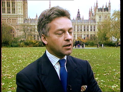 queen's flight to be privatised; london: westminster: alan duncan mp interview sot - its a disgrace that we learn about this thru newspaper... - alan duncan stock videos & royalty-free footage
