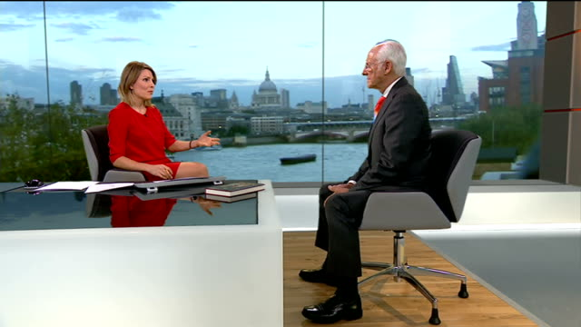 Queen's former press secretary Dickie Arbiter releases book ENGLAND London GIR INT Dickie Arbiter LIVE STUDIO interview SOT