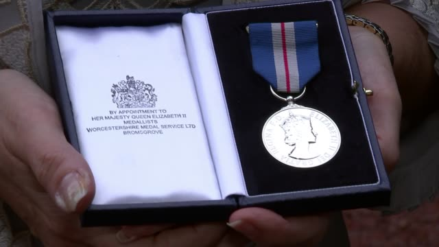 Queen's Gallantry Medal presented to mother of murdered backpacker ENGLAND London Buckingham Palace EXT Sandra Jackson interview SOT Close shot...
