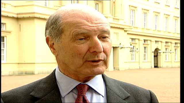 queen's golden jubilee plans ext lord sterling interviewed sot it's not going to be that different to '77 - golden jubilee stock videos & royalty-free footage