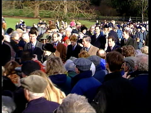 Queen's message Royals at Sandringham c1345 NICHOLAS OWEN Norfolk Sandringham EXT Princess Anne and the Duke of Edinburgh leading members of the...