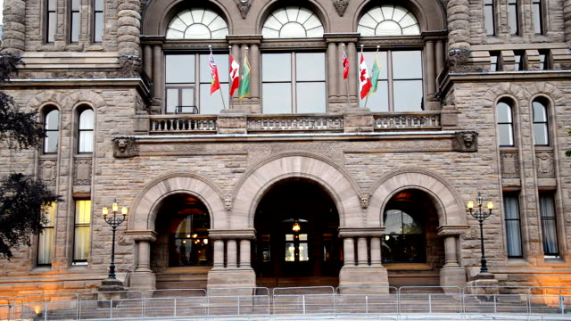 queen's park building seat of ontario provincial government - government building stock videos and b-roll footage