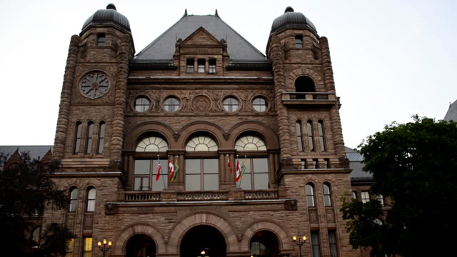 queen's park building seat of ontario provincial government - ontario canada stock videos and b-roll footage