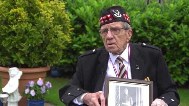queen's piper leads tributes to soldiers caught up in 'forgotten dunkirk' scotland forres ext private donald smith interview sot - war and conflict stock-videos und b-roll-filmmaterial