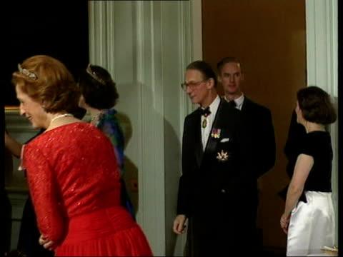 queens private secretary to retire lib scotland edinburgh holyrood house slomo sir robert fellowes entering room - holyrood bildbanksvideor och videomaterial från bakom kulisserna