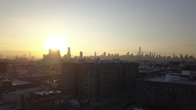 queens sunset in astoria queens, ny - queens new york city stock videos & royalty-free footage