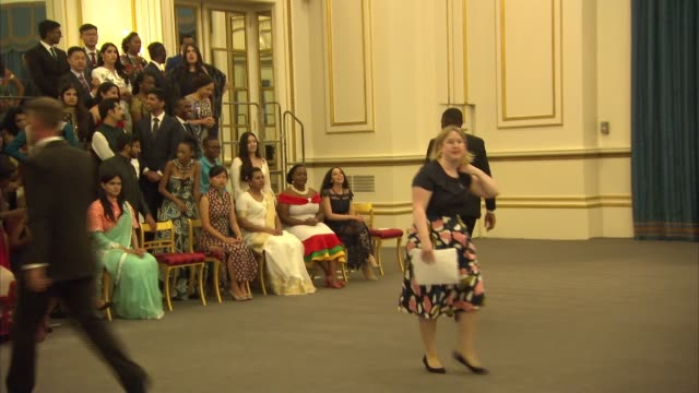 queen's young leaders programme reception at buckingham palace reception and awards ceremony england london buckingham palace int award winners... - meghan duchess of sussex stock videos and b-roll footage