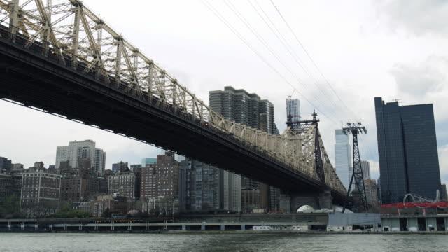 Queensboro Bridge establishing time lapse