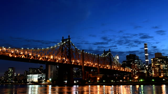 queensboro bridge time lapse - queensboro bridge stock videos & royalty-free footage