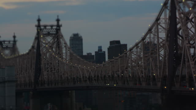 queensboro bridge time lapse video - queensboro bridge stock videos & royalty-free footage