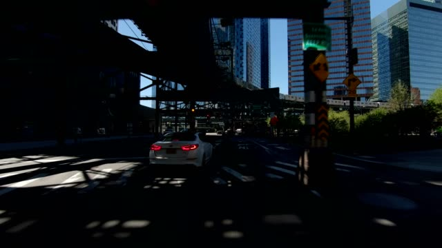 queensboro bridge v synched series front view driving studio process plate - queensboro bridge stock videos & royalty-free footage