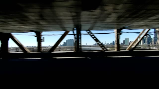 queensboro bridge vi synched series left side driving studio process plate - driving plate stock videos & royalty-free footage