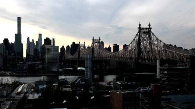 queensboro bridge with queens time lapse - queens new york city stock videos and b-roll footage