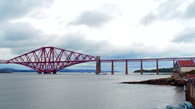 queensferry bridges - tram stock videos & royalty-free footage