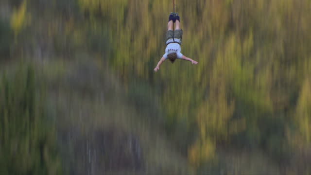 queenstown bungee jump - queenstown stock videos & royalty-free footage