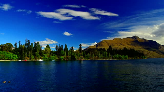 queenstown lakeside - queenstown stock videos & royalty-free footage