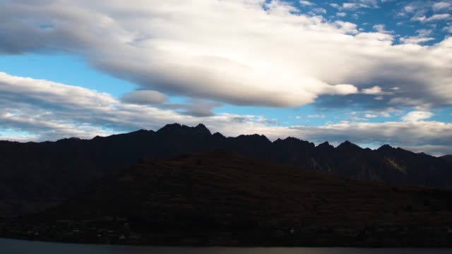 queenstown timelapse view extreme sports resort south island - southern hemisphere stock videos & royalty-free footage