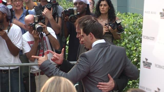 Quentin Tarantino and Eli Roth at the The Cinema Society Screening Of 'Inglourious Basterds' at New York NY