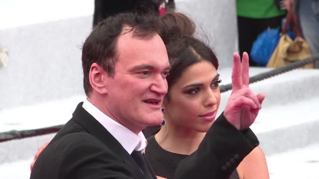 quentin tarantino and his wife daniella pick walk the red carpet for the screening of chinese film noir wild goose lake which is also in contention... - tapis rouge stock videos & royalty-free footage