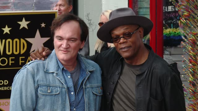 Quentin Tarantino and Samuel L Jackson at Quentin Tarantino Honored with Star on the Hollywood Walk of Fame at Hollywood Walk Of Fame on December 21...