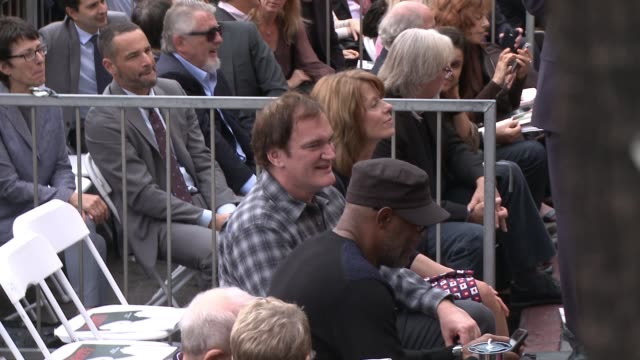 Quentin Tarantino and Samuel L Jackson at the Christoph Waltz Honored With Star On The Hollywood Walk Of Fame at Hollywood Walk Of Fame on December...