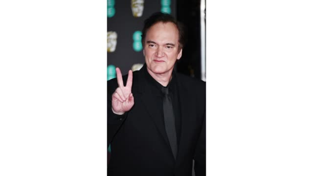 gif quentin tarantino at ee british academy film awards 2020 red carpet arrivals at royal albert hall on february 2 2020 in london england - british academy film awards stock videos & royalty-free footage