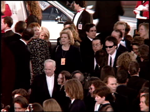 quentin tarantino at the 1995 academy awards arrivals at the shrine auditorium in los angeles, california on march 27, 1995. - shrine auditorium stock videos & royalty-free footage