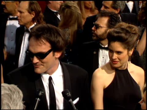 quentin tarantino at the 1995 academy awards arrivals at the shrine auditorium in los angeles, california on march 27, 1995. - 67th annual academy awards stock videos & royalty-free footage