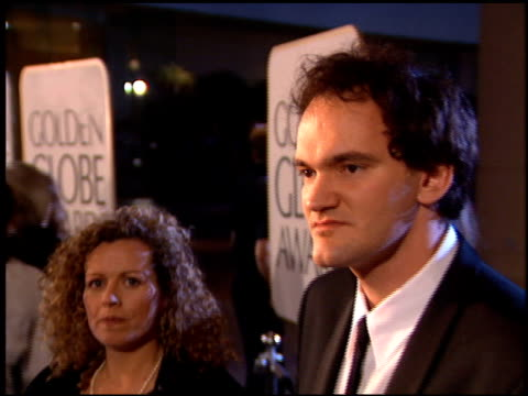Quentin Tarantino at the 1995 Golden Globe Awards at the Beverly Hilton in Beverly Hills California on January 21 1995
