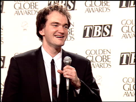 quentin tarantino at the 1995 golden globe awards at the beverly hilton in beverly hills california on january 21 1995 - golden globe awards stock videos & royalty-free footage