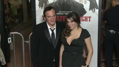 """quentin tarantino at """"the hateful eight"""" world premiere at arclight cinemas on december 07, 2015 in hollywood, california. - arclight cinemas hollywood stock videos & royalty-free footage"""