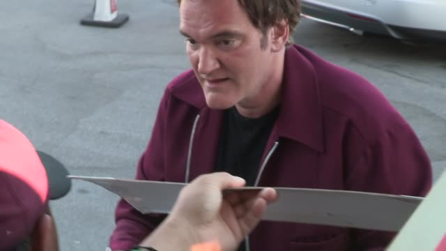 Quentin Tarantino greets fans at the 2013 Saturn Awards in Burbank 06/26/13 Quentin Tarantino greets fans at the 2013 Saturn on June 26 2013 in Los...