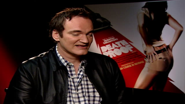 Quentin Tarantino interview on film 'Death Proof' London Quentin Tarantino interview SOT