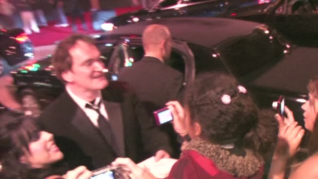 Quentin Tarantino leaving the 2011 BAFTA Brits To Watch Event in Los Angeles