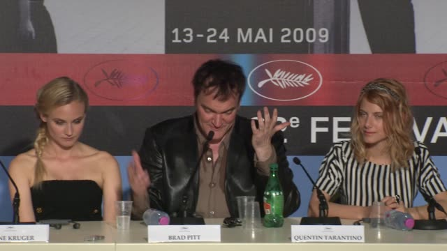 quentin tarantino on how he would have walked away from making the film if it was not exactly how he wanted it with respect to casting at the cannes... - 62 ° festival internazionale del cinema di cannes video stock e b–roll